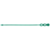 GB 45-8BEADGN Beaded Cable Tie, 2 in, 6/6 Nylon, Green, 8 in L