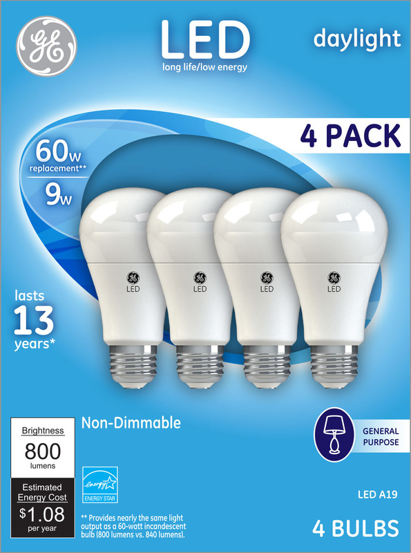62010 4PK LED 60W DL ND BULB