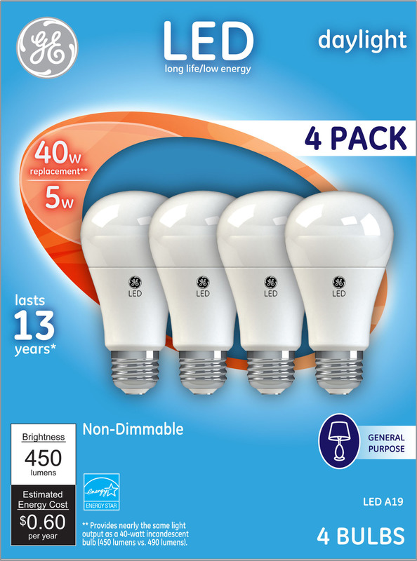 61984 4PK LED 40W DL ND BULB