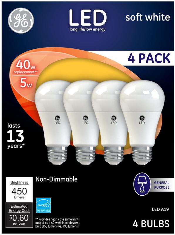61973 4PK 40W LED SW ND BULB