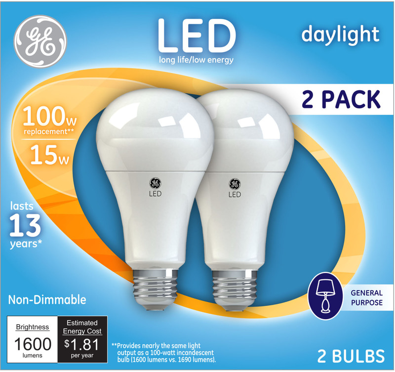 21868 2PK 100W LED DL BULB