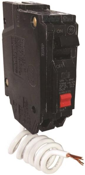 GE THQL1120GFTP Ground Fault Circuit Breakers, Single Pole ? Self Test, 20 Amp