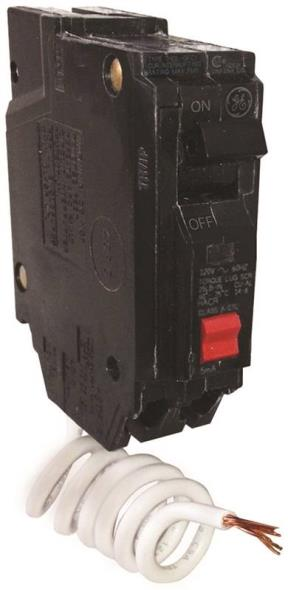 GE THQL1130GFTP Ground Fault Circuit Breakers, Single Pole ? Self Test, 30 Amp