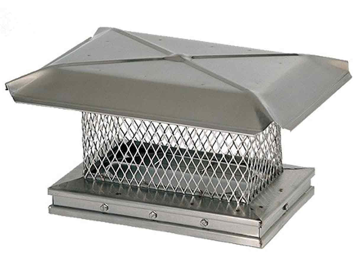 "12"" x 12"" Gelco Stainless Steel Single-flue Chiminey Cap, 304-alloy"