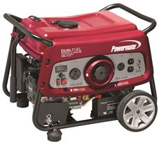 POWERMATE 3500-WATT DUAL FUEL ELECTRIC START PORTABLE GENERATOR WITH OHV ENGINE, 49-STATE/CSA COMPLIANT