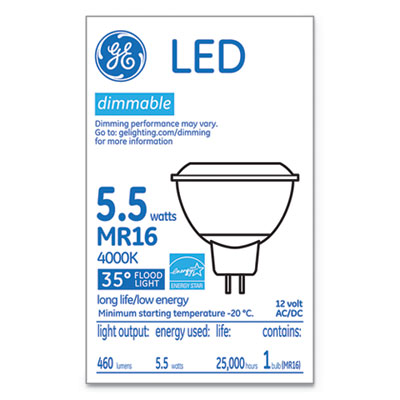 LED MR16 GU5.3 Dimmable Warm White Flood Light, 4000K, 6W