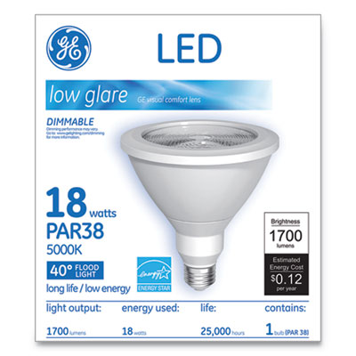 LED PAR38 Dimmable 40 DG Daylight Flood Light Bulb, 5000K, 18W