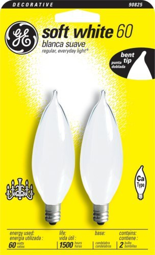 66108 60W SFT WH BENT TIP BULB