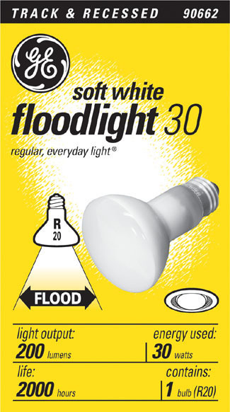 30R20 30W FLOOD LIGHT BULB