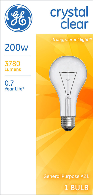 200A/CL-1 200W CLEAR A-21