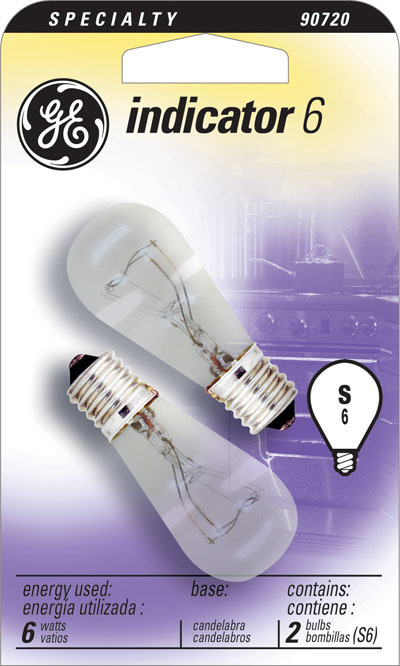 6S6 CLEAR APPLIANCE BULB