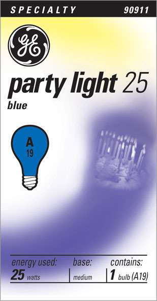 25W BLUE PARTY LIGHT25 BULB