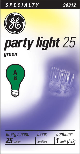 25W GREEN PARTY LIGHT25 BULB