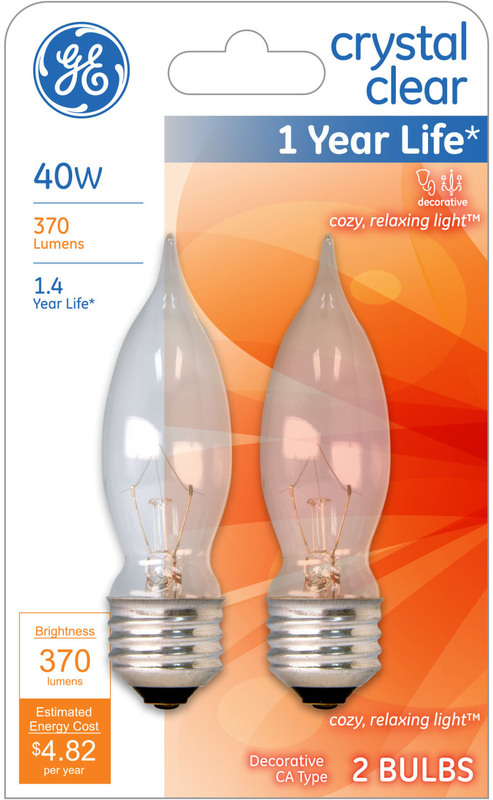 66109 40W CLEAR BENT TIP BULB