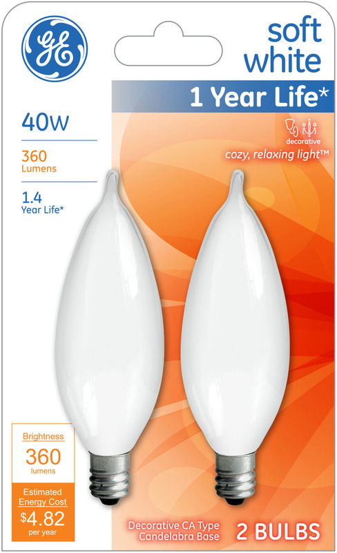 66106 40W SFT WH BENT TIP BULB