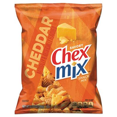Chex Mix, Cheddar Flavor Trail Mix, 3.75 oz Bag, 8/Box