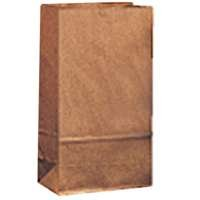 #10 Paper Grocery Bag, 35lb Kraft, Standard 6 5/16 x 4 3/16 x 13 3/8, 500 bags