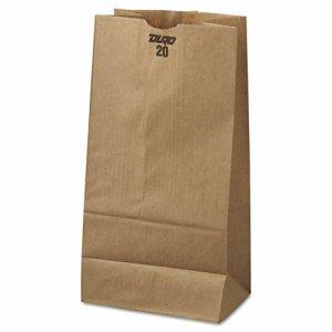 #20 Paper Grocery Bag, 40lb Kraft, Standard 8 1/4 x 5 5/16 x 16 1/8, 500 bags