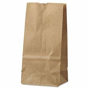 #2 Paper Grocery Bag, 30lb Kraft, Standard 4 5/16 x 2 7/16 x 7 7/8, 500 bags