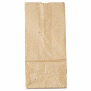 #5 Paper Grocery Bag, 35lb Kraft, Standard 5 1/4 x 3 7/16 x 10 15/16, 500 bags
