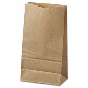 #6 Paper Grocery Bag, 35lb Kraft, Standard 6 x 3 5/8 x 11 1/16, 500 bags