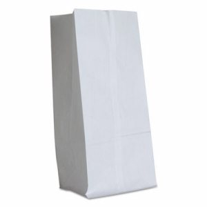 #16 Paper Grocery Bag, 40lb White, Standard 7 3/4 x 4 13/16 x 16, 500 bags