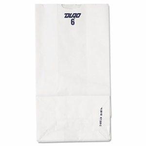 #6 Paper Grocery Bag, 35lb White, Standard 6 x 3 5/8 x 11 1/16, 500 bags