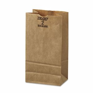#2 Paper Grocery, 52lb Kraft, Extra-Heavy-Duty 4 5/16x2 7/16 x7 7/8, 500 bags