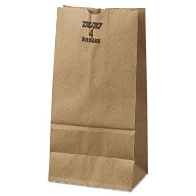 #4 Paper Grocery Bag, 50lb Kraft, Extra-Heavy-Duty 5 x 3 1/3 x 9 3/4, 500 bags