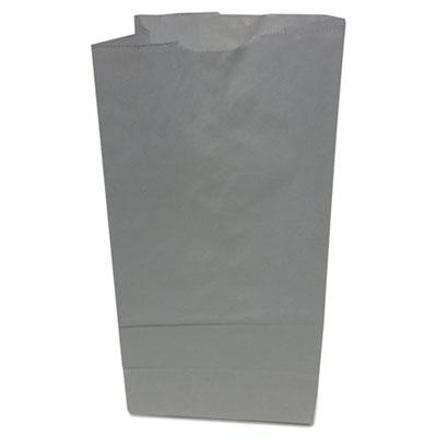 #5 Paper Grocery Bag, 35lb White, Standard 5 1/4 x 3 7/16 x 10 15/16, 500 bags