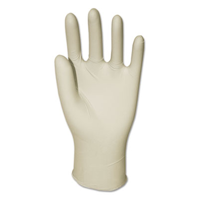 Latex General-Purpose Gloves, Powdered, Small, Clear, 4 2/5 mil, 1000/Carton