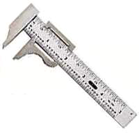 General Tools 729 Nib Pocket Caliper, 0 - 4 in, 16th, 32nd, Stainless Steel