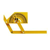 General Tools 29 Angle Protractor With Brass Locknut, 0 - 165 deg, Plastic