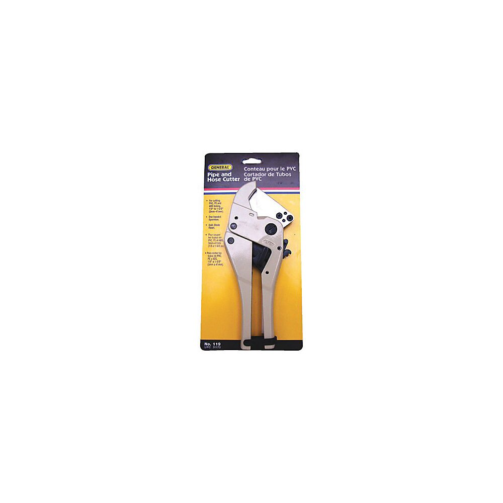 General Tools 119 One Handed Pipe and Hose Cutter, 1/8 - 1-5/8 in, Ergonomic