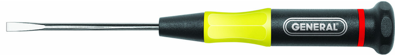 General Tools UltraTech Precision Slotted Screwdriver, 9/64 in, 6-3/8 in OAL