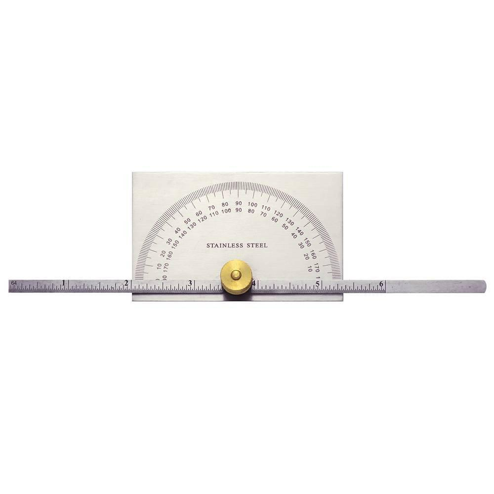 General Tools 19 Dual Purpose Protractor and Depth Gage, 0 - 180 deg, Stainless Steel