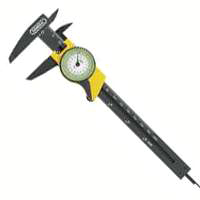 General Tools 142 4-Way Dial Caliper, 0 - 6 in, 0.01 in, 64th, 1-1/2 in, Plastic, White, Matte