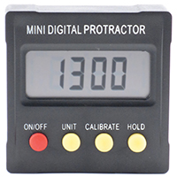 General Tools 824 Mini Digital Protractor, 0 - 180 deg