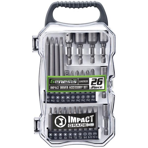 Genesis GAIDB26 26-Piece Impact Driver Accessory Set