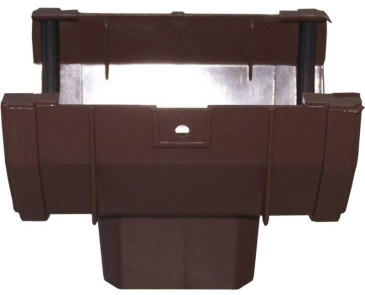 GUTTER DROP OUTLET FRONT BROWN