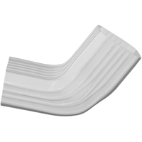 Genova AW321 A to B Style Downspout Elbow, For Use With B-Style Elbow, 3 X 4 in, Vinyl, White