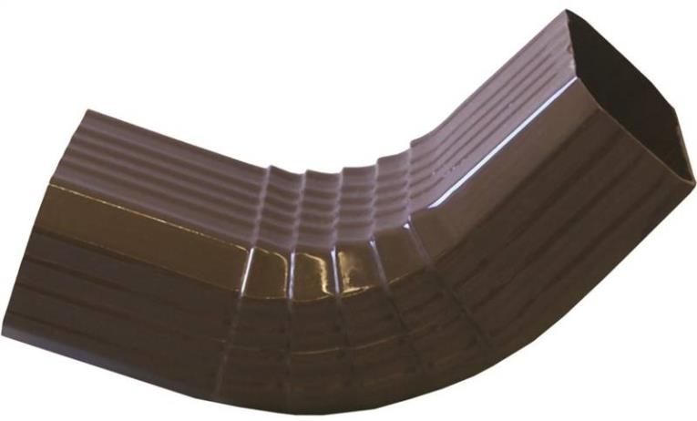 Raingo AB201A Type A Downspout Elbow, 2 in W X 3 in D, 112 deg Offset, For Use With Repla K System