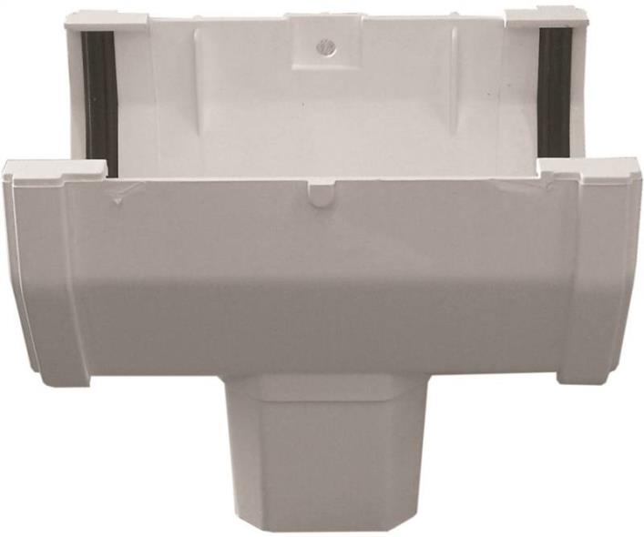 GUTTER DROP OUTLET SIDE WHITE