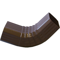 Genova AB301A A Style Gutter Elbow, 3 X 4 in, Vinyl, Brown