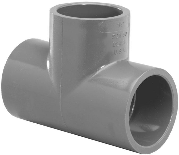 TEE SCH80 PVC 1/2 SLP