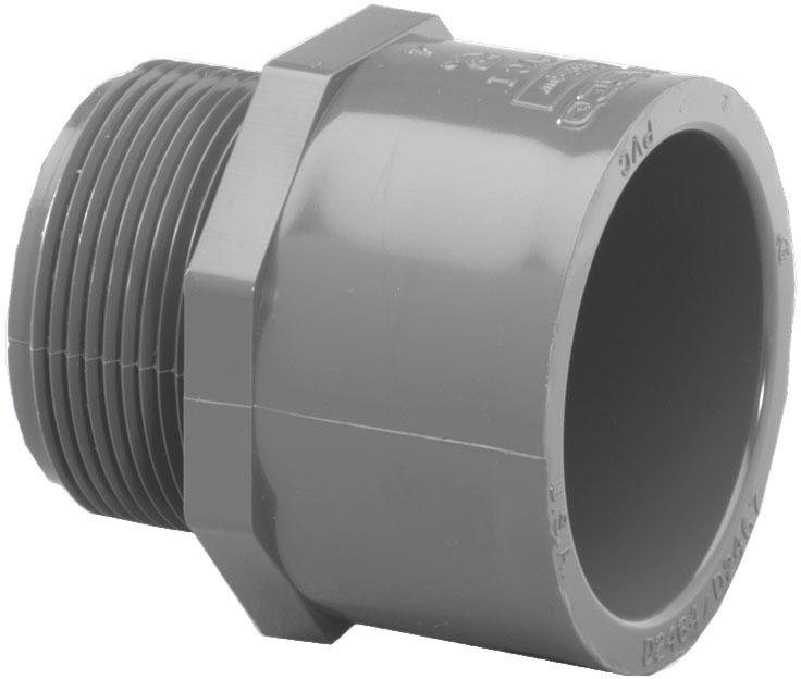 2 SXMIP SCH80 PVC MALE ADAPTER