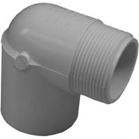 Genova 32705 Pipe Street Elbow, 90 deg, 1/2 in, MIP x FIP, SCH 40, PVC
