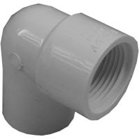 Genova 34157 Pipe Reducing Elbow, 90 deg, 1/2 x 3/4 in, Slip x FIP, SCH 40, PVC