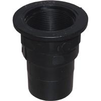 Genova 800 Swivel Tray Plug Pipe Adapter, 1-1/2 in, Hub X FIP, ABS Plastic