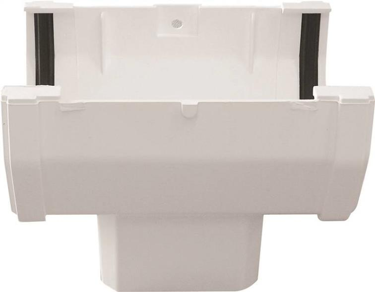 GUTTER DROP OUTLET FRONT WHITE